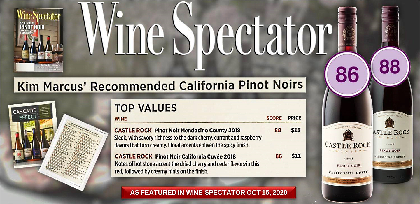 Castle Rock Winery Earns Two TOP VALUE Recommendations from Wine Spectator
